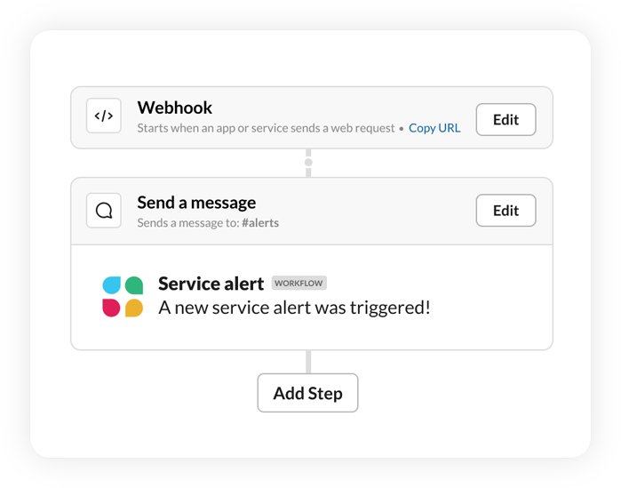 Using a webhook trigger in Workflow Builder