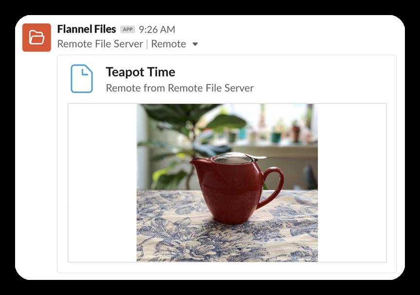 A remote file upload
