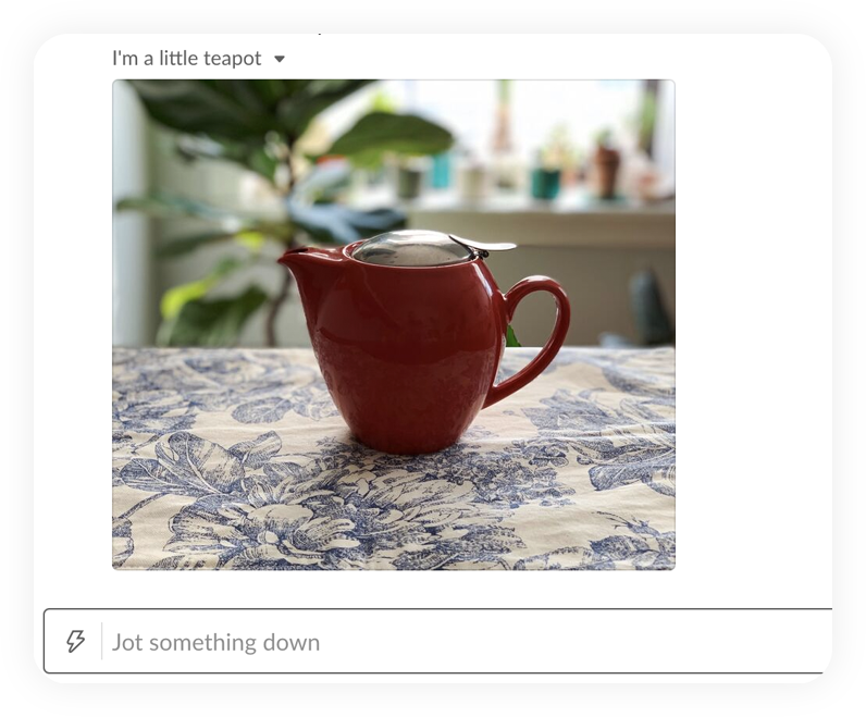 A picture of a teapot