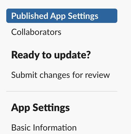 Your app, configuration