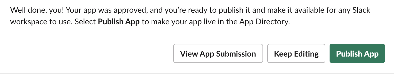 Your app, submit to be published