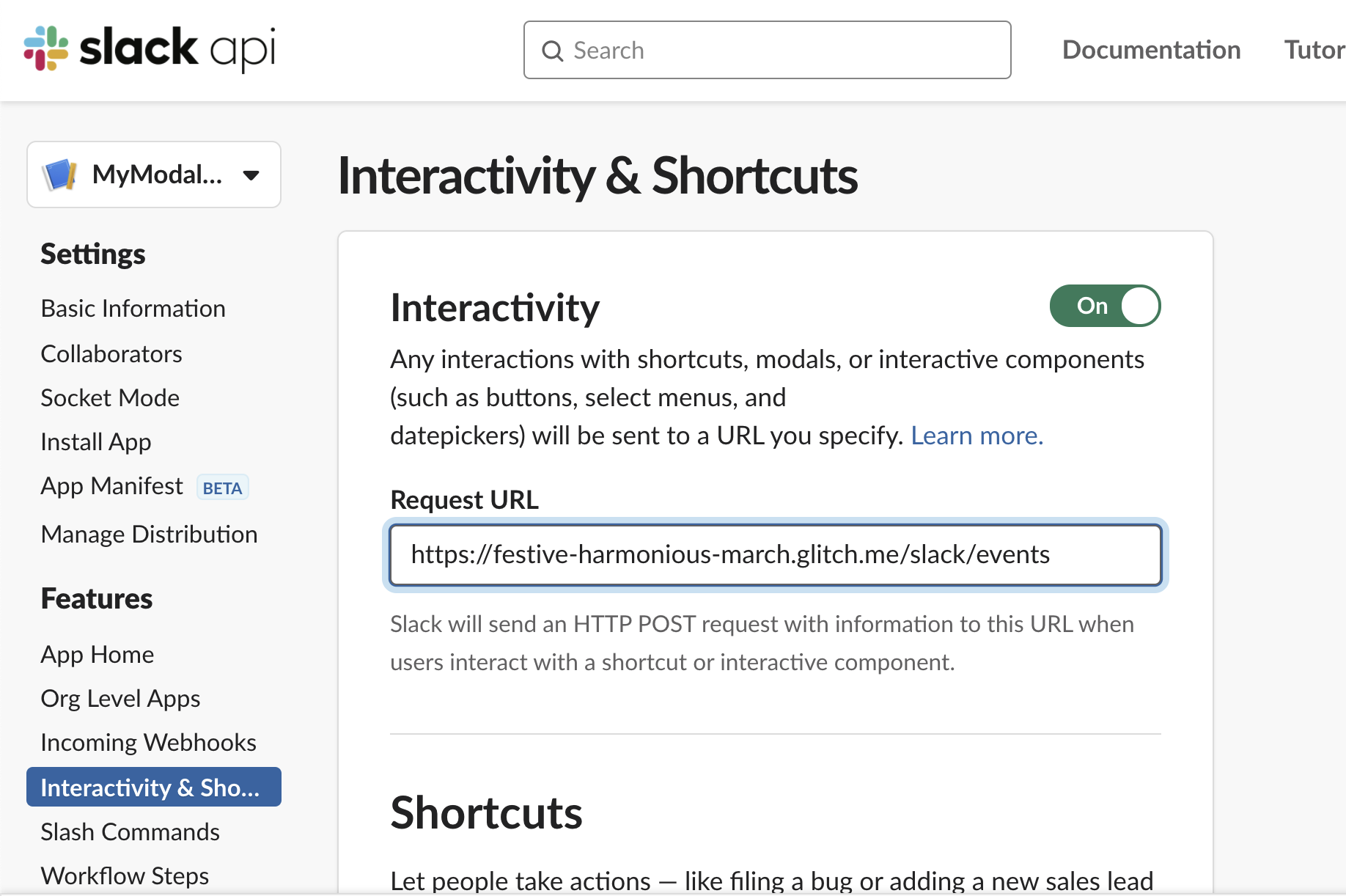 interactivity URL